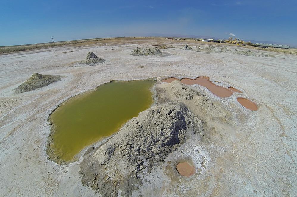 Mud Pots Salton Sea desert volcano
