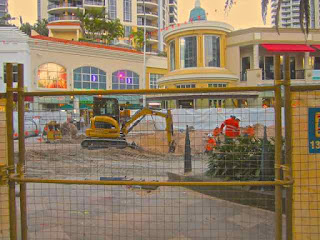 Light Rail under Ground Works Surfers Paradise blvd Date April 2013