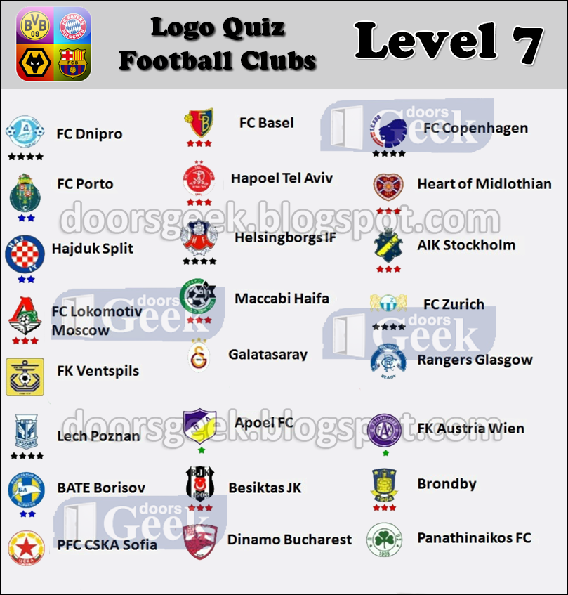 Estremamente Logo Quiz - Soccer Clubs [Level 7 - Others 1] ~ Doors Geek KO52