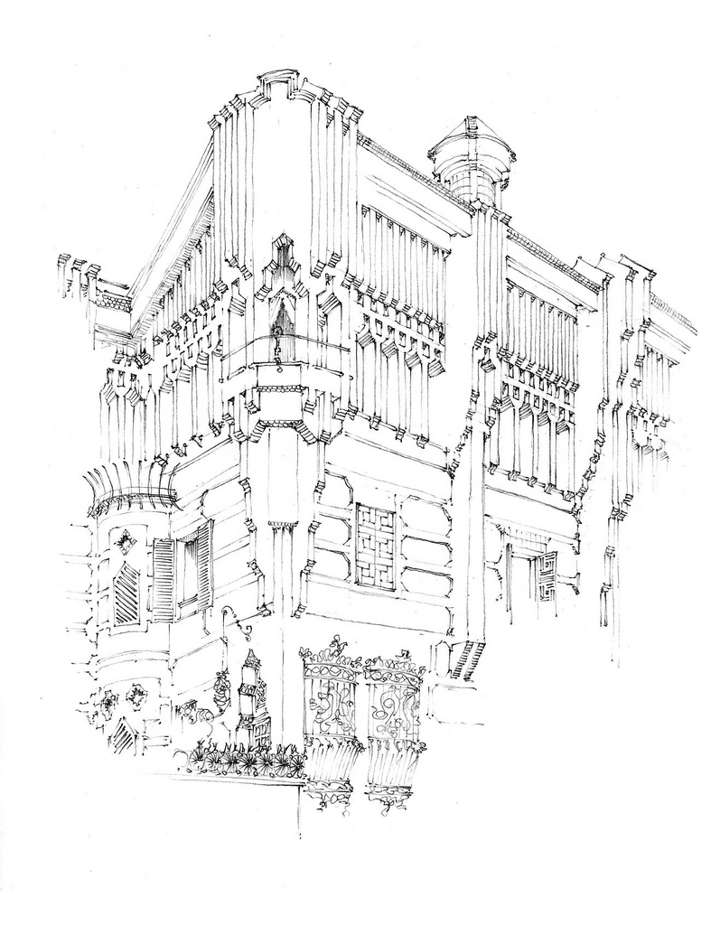 09-Barcelone-Casa-Vicens-Gérard-Michel-Urban-Architectural-Drawings-from-your-Teacher-www-designstack-co