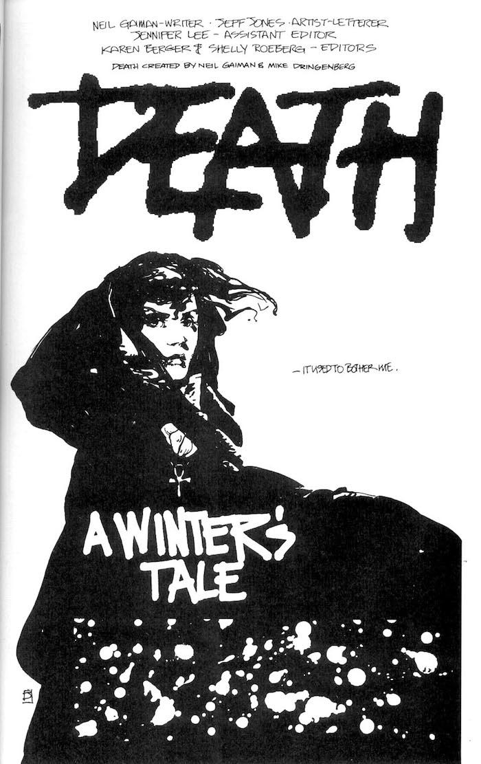 Jeff Jones dc 1990s comic book page - Death in Vertigo: Winters Edge #2