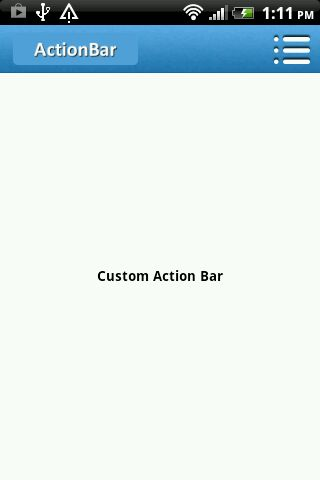 sherlock action bar
