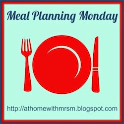 At home with Mrs M. Meal planning Monday