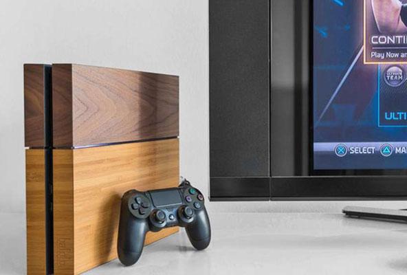 capa de madeira para PS4