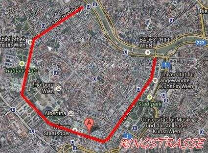 mappa Vienna Ringstrasse