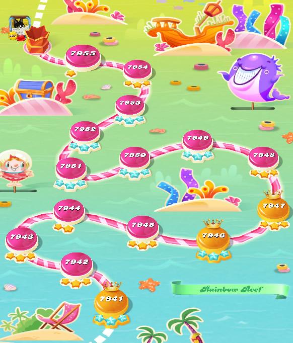 Candy Crush Saga level 7941-7955