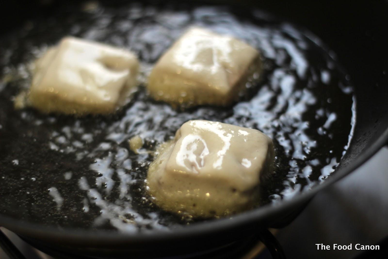 Fried Nian Gao And Yam Dessert Sticky Glutinous Rice Cake