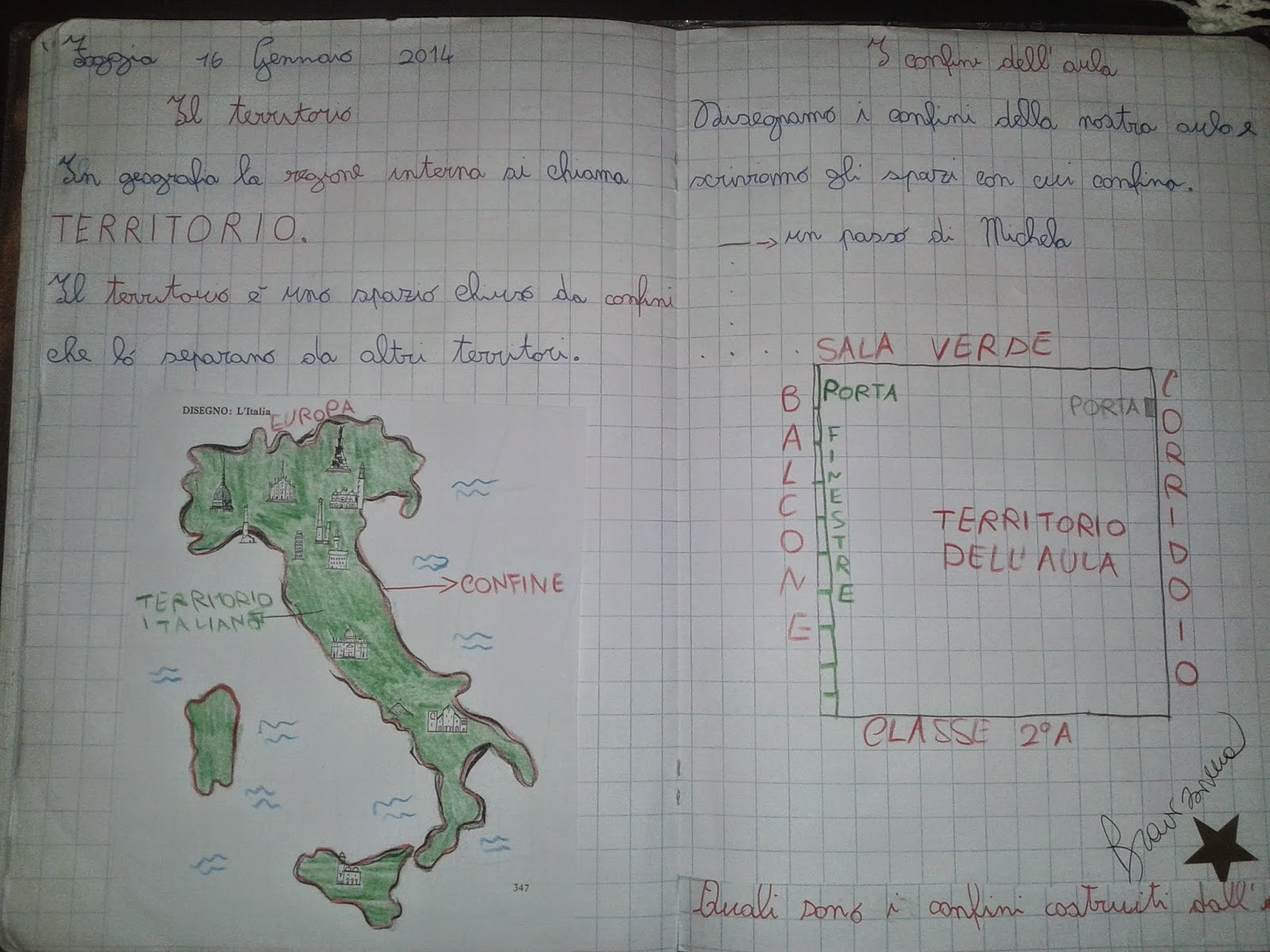Popolare LA MAESTRA MARIA TI SALUTA: Quaderno di geografia classe 2^ a.s.  MM26