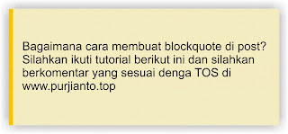 Jenis blockquote untuk blog