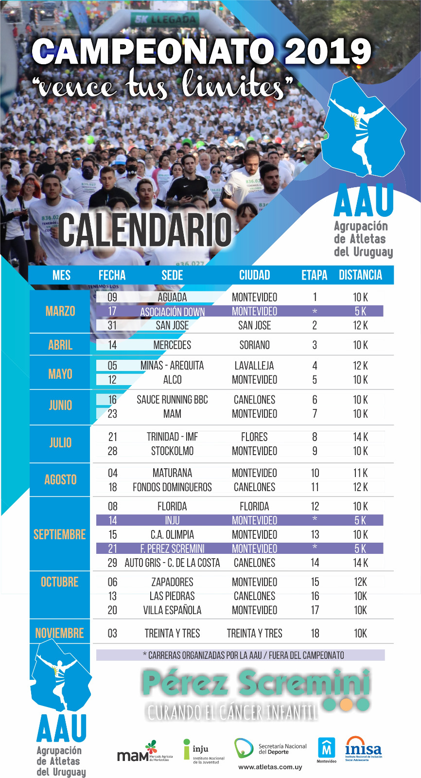 Carreras De Obstaculos Calendario.Run Uruguay Entrega De Kits Calendario Aau 2019