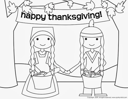 early play templates: Thanksgiving Coloring in sheets
