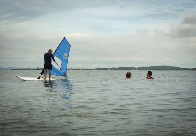 Windsurfing in Cartagena, Columbia