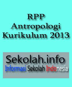 Contoh RPP Antropologi Kurikulum 2013