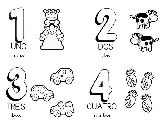 Dibujos Del Numero 7 Para Colorear: Numeros Para Preescolar Para Colorear