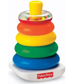 Fisher Price piramide met stapelringen