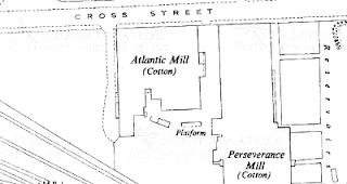 Atlantic Mill, OS map, 1956.