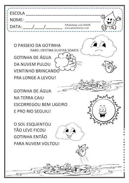 Ciclo da Água - O passeio da Gotinha: Interdisciplinar
