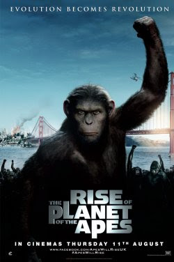 Poster Of Rise of the Planet of the Apes 2011 In Hindi Bluray 720P Free Download