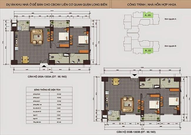 căn hộ A03 - B03 chung cư Lotus Lake View