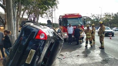 Filho de Michel Temer sofre acidente de carro na Asa Sul da Capital Federal