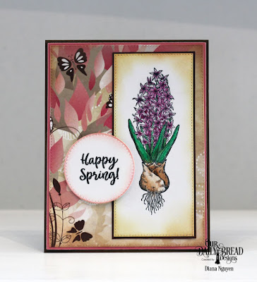 Our Daily Bread Designs Stamp Set: Easter Greetings, Paper Collection:  Beautiful Blooms, Custom Dies: Pierced Rectangles, Pierced Circles