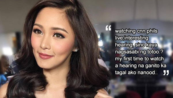 Kim Chiu shows maturity, prudence on current issues
