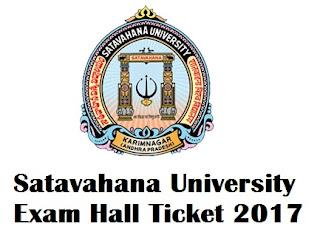 Satavahana University Degree Exam Hall Tickets 2017