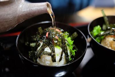 生坂村の古民家カフェ ひとつ石の料理練習 お茶漬けの完成