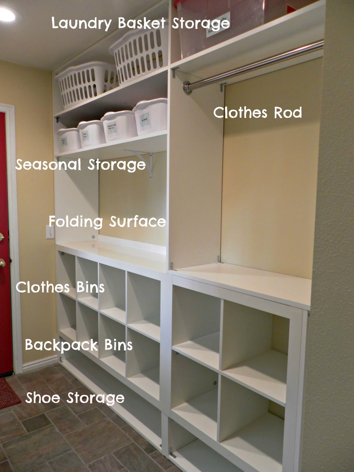 Be book bound huckleberry finn laundry and mud room remodel - Laundry room shelving ideas ...