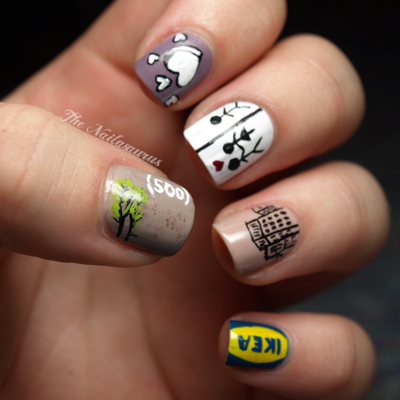 Just Like The Movies: (500) Days of Summer Nail Art - The ...