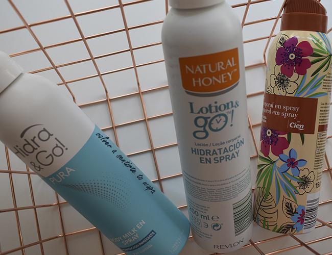 Cremas corporales en spray: Mercadona - Natural Honey - Lidl