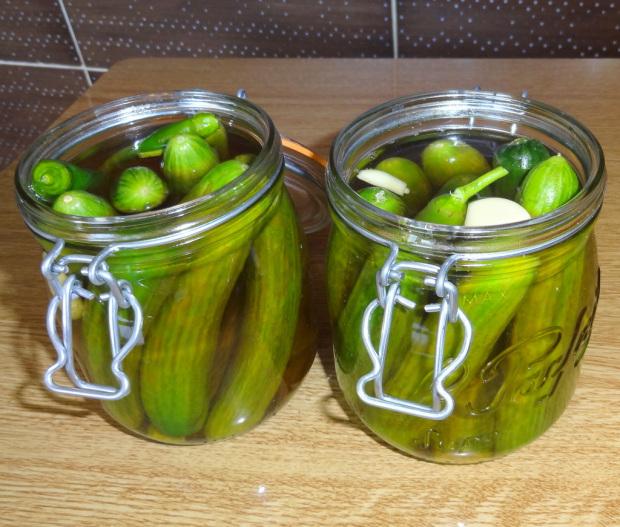 Cucumber Pickles in Jars