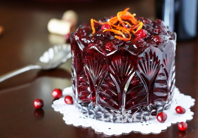 Cabernet Cranberry Sauce by The Kitchen is My Playground