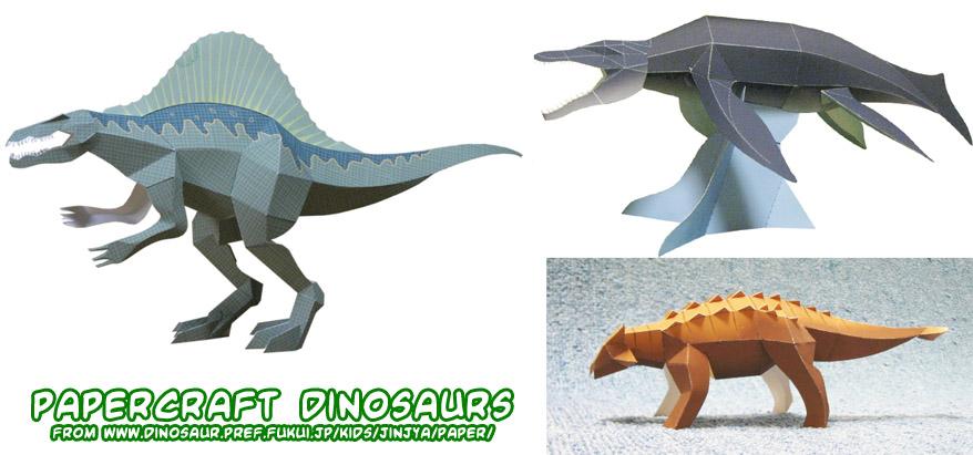 Ninjatoes Papercraft Weblog Papercraft Dinosaurs