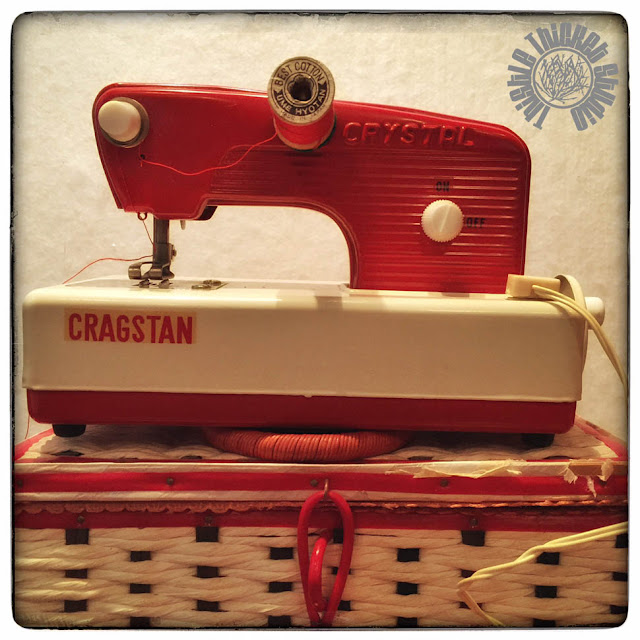 Vintage Toy Sewing Machine By Thistle Thicket Studio. www.thistlethicketstudio.com