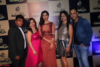 Actress Sophie Choudry in Transparent Red Dress (16).JPG