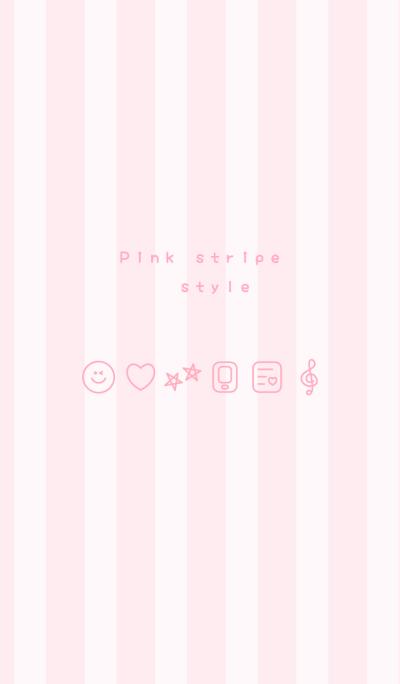 Pink stripe style