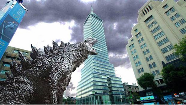 """Indemnizará """"Godzilla"""" a comerciantes afectados por filmación con 4 millones 714 mil 600 pesos a los vendedores."""
