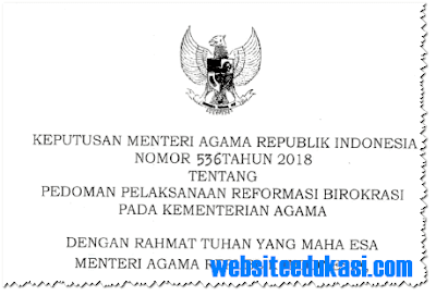 KMA Nomor 536 Tahun 2018