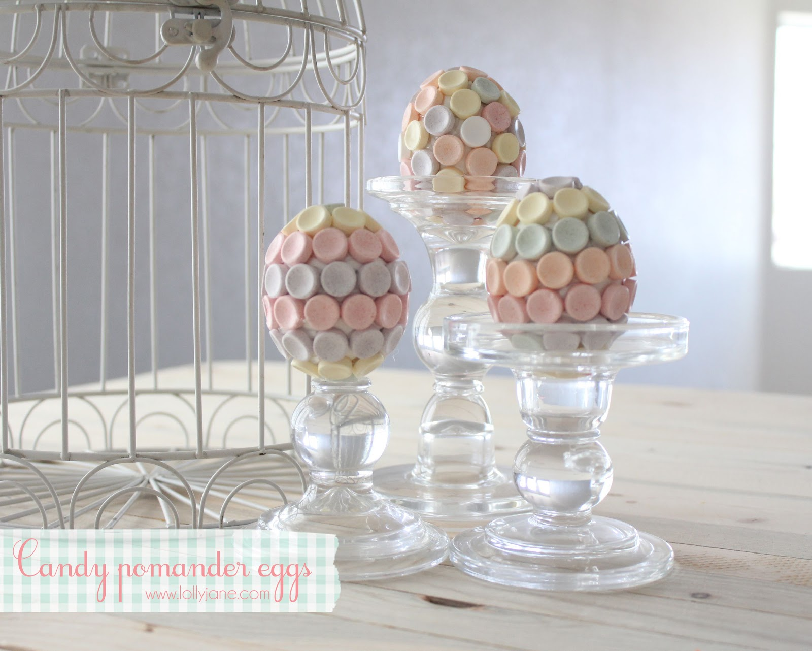 Easter Candy Pomander Eggs