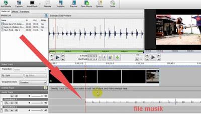 cara memasukan file kedalam timeline videopad