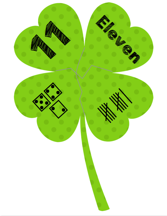 Lucky Numbers Shamrock Puzzles Apple Y Ever After