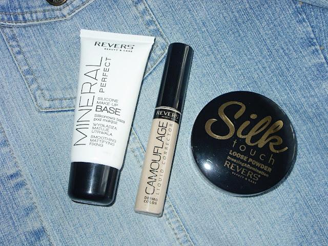 Recenzja: silikonowa baza pod makijaż, prasowany puder i korektor do twarzy, Revers Cosmetics Beauty&Care