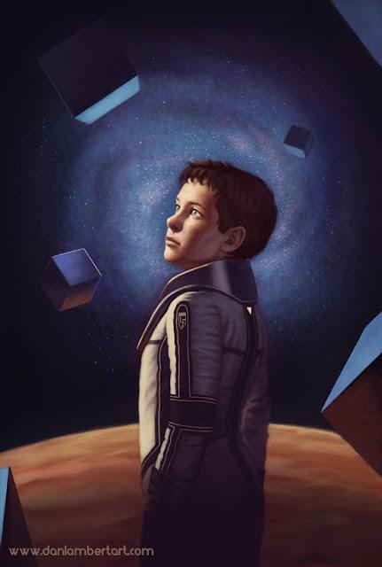 Ilustración del protagonista de la saga Ender: Andrew Wiggin.