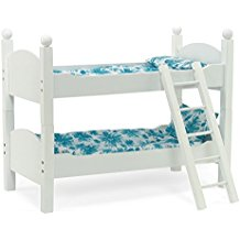 White Bunk Bed Doll Furniture