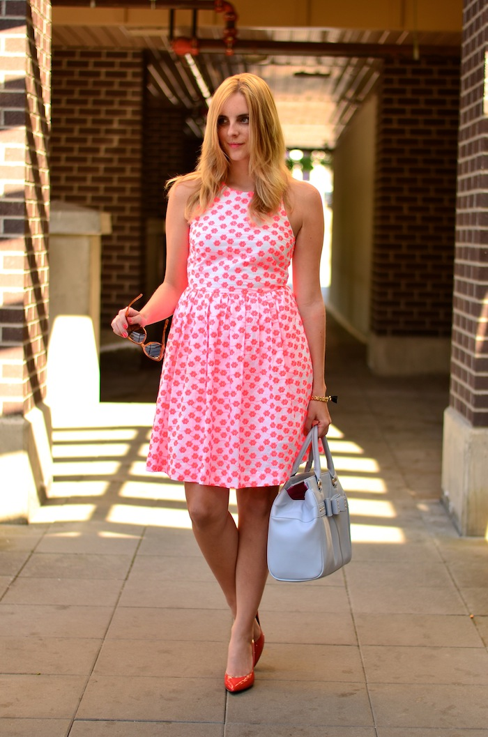 How to Wear J Crew Embroidered floral racer dress