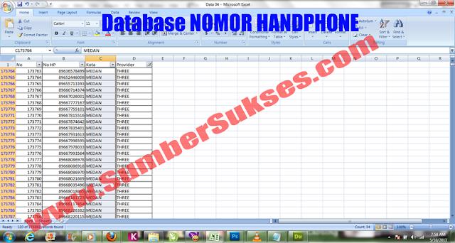 Image Result For Database Nomor Hp Semua Operator Malang