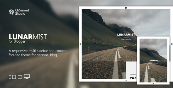 Blogger Template Pography | Download Lunarmist A Responsive Theme For Photography Personal