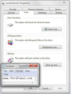 cara defragment tools 2