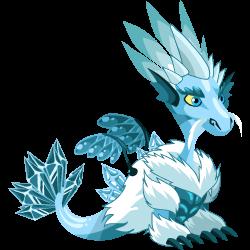 Apariencia del Dragón Hielo de adolescente